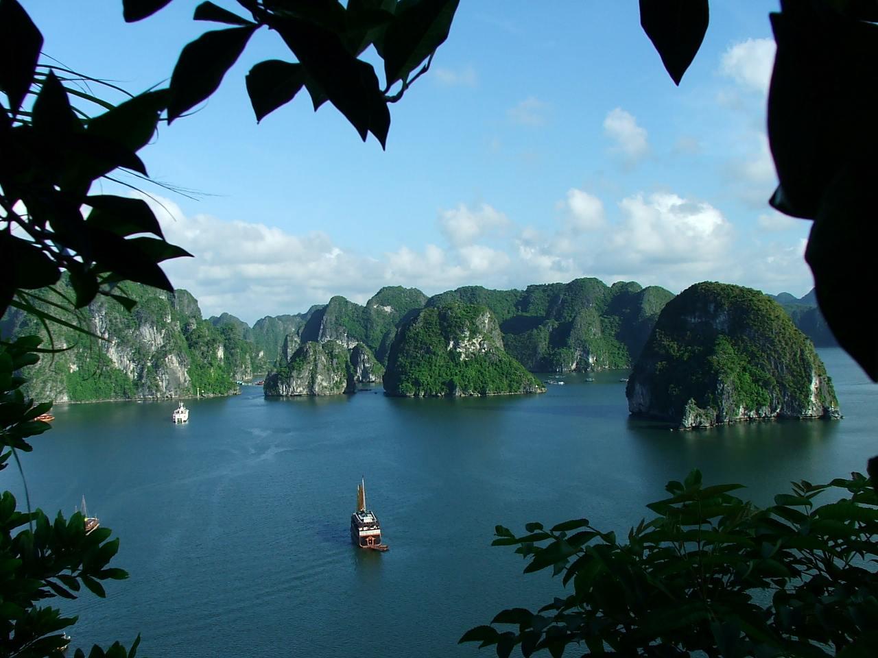 La baie d'Halong au Vietnam