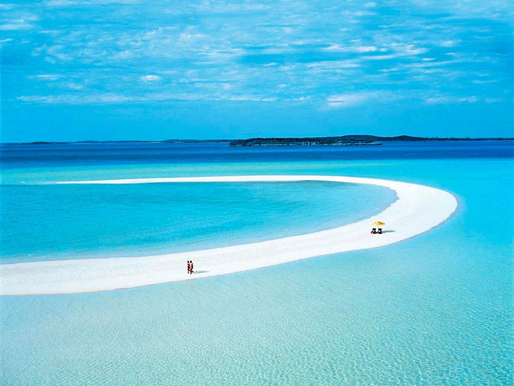 La plage de Musha Cay aux Bahamas