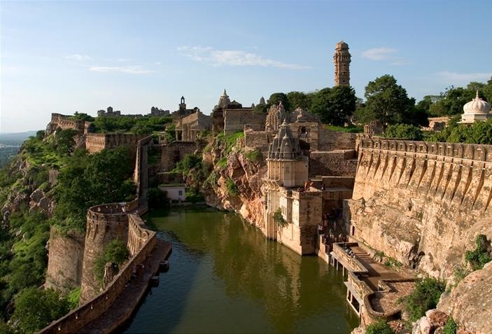 Le fort de Chittorgarh en Inde