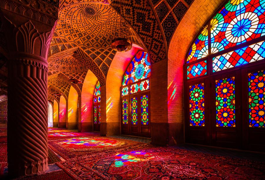 mosquée rose de shiraz