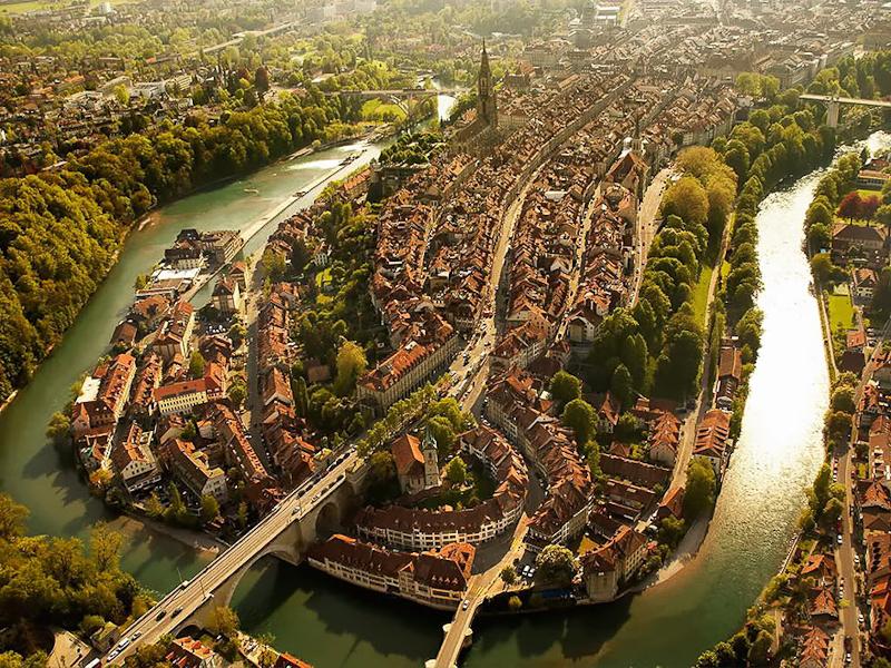 bern suisse vue aérienne