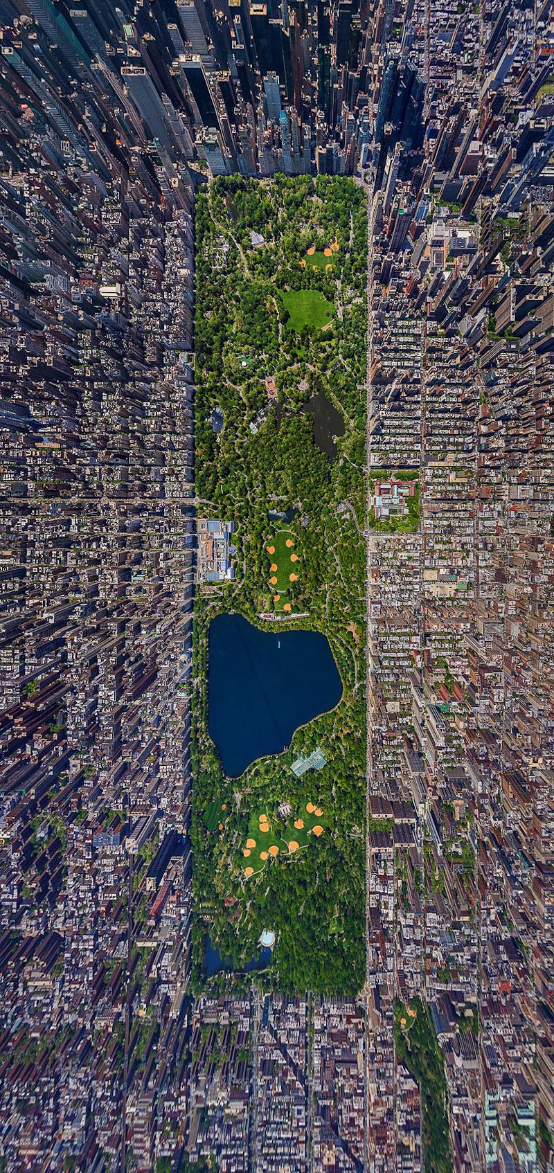 central park vue du ciel