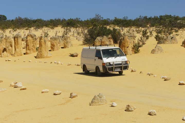 van désert australie