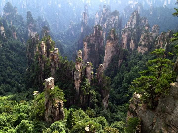 La forêt de pierre d'Hunan Chine