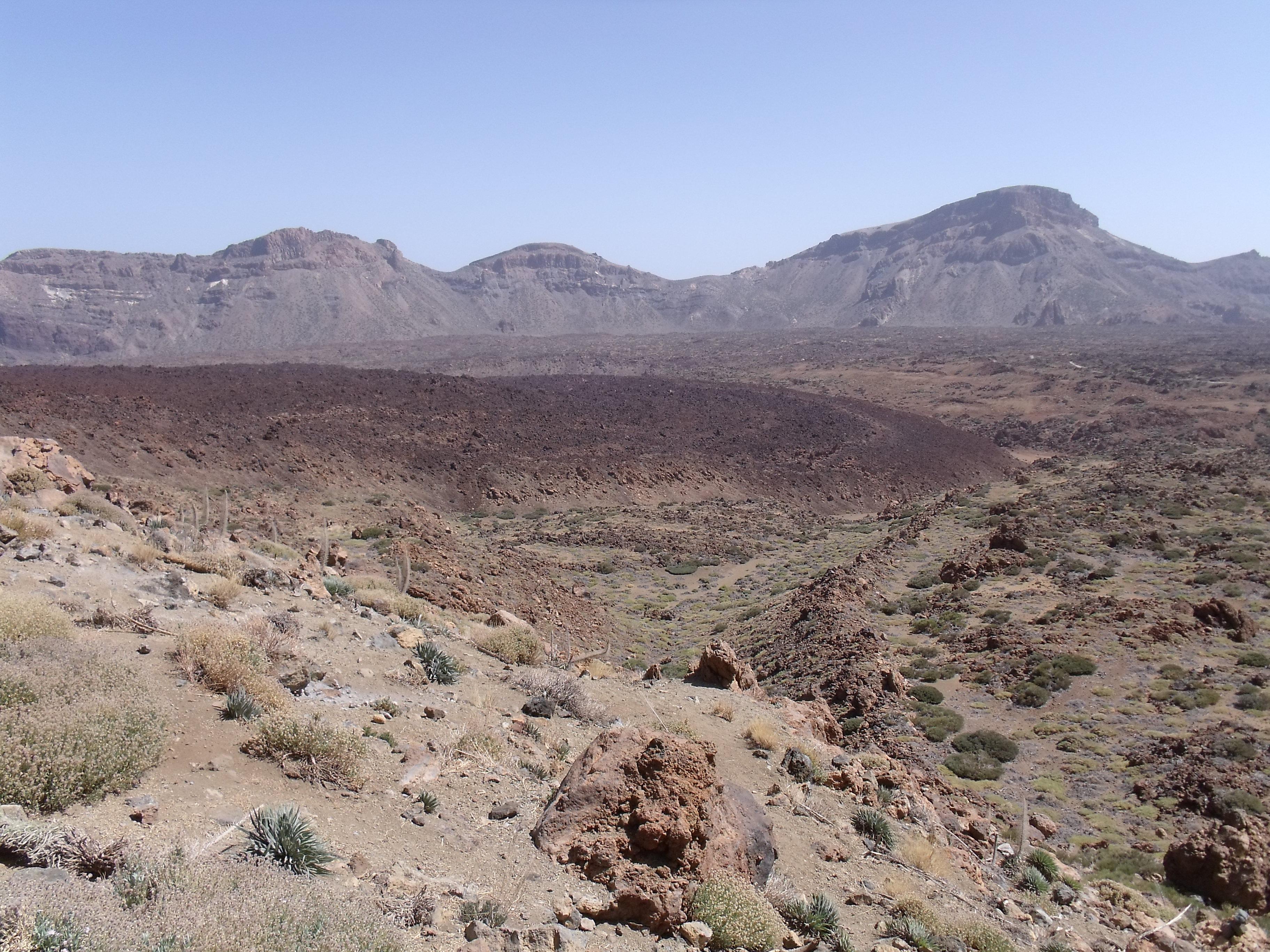Une coulée de lave sur l'ile de Tenerife