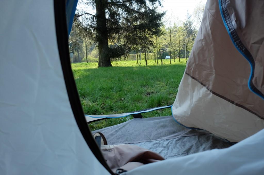 réveil en tente