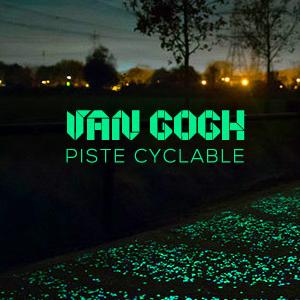Découvrez la première piste cyclable phosphorescente