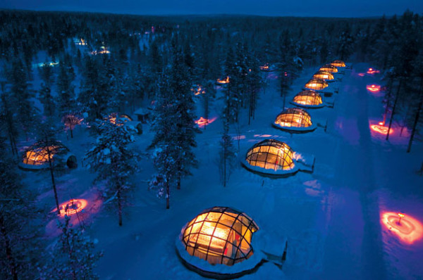 hotel igloo laponie aurore boreale